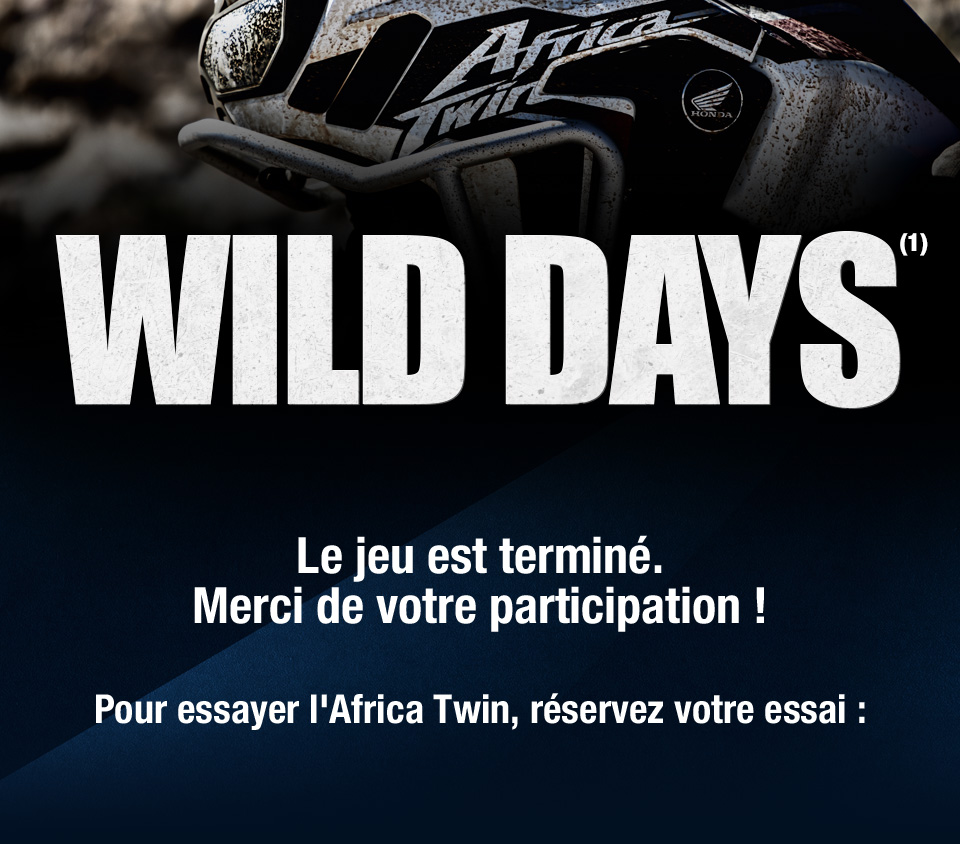 Wild days - du 9 septembre au 7 octobre 2017